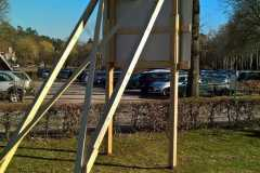 Bauschildkonstruktion Holz