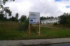 Klassisches Bauschild