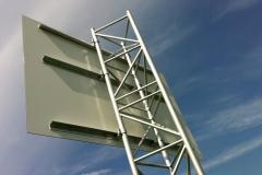 Bauschildkonstruktion Metall
