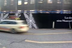Bauzaunwerbung Panoramabild
