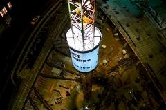 European-Crane-Media System, Rundkörper Ansicht von oben